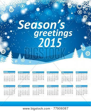 seasons greetings 2015 calendar