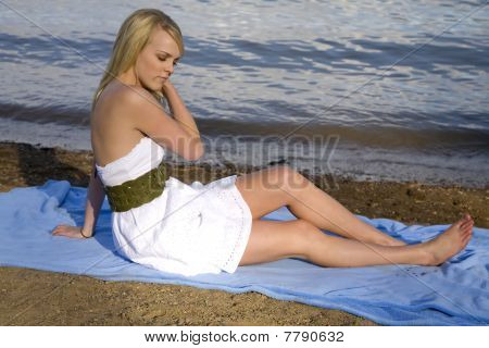 Eyes Closed Relax Beach