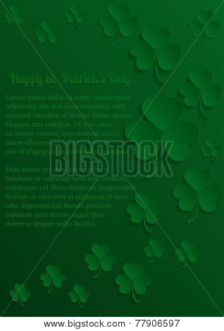 paper st Patricks Day card