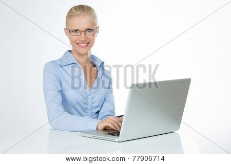 Funny Woman On Isolated