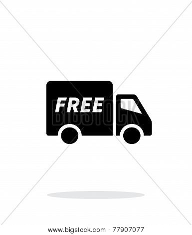 Free delivery icon on white background.