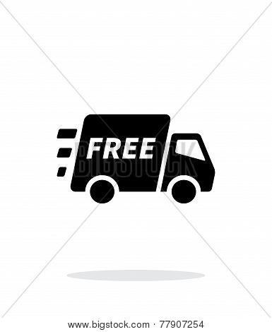 Free delivery support icon on white background.