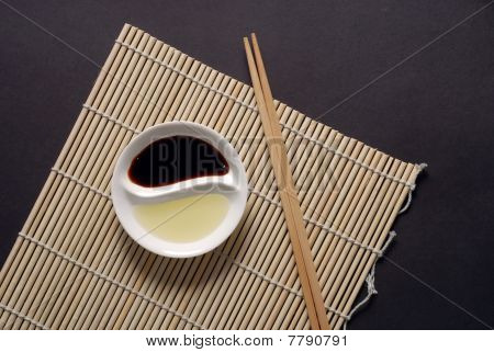 Asian Food Concept With Copy Space In Landscape