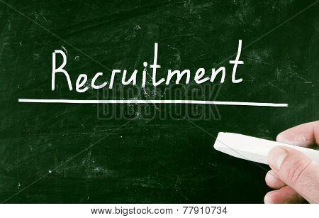Recruitment handwritten with chalk