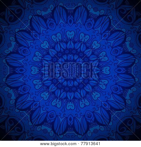 Abstract vector circle floral ornamental border. Lace pattern de