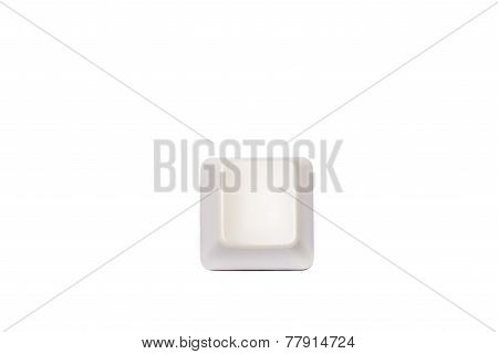 Empty computer keyboard, keypad button isolated