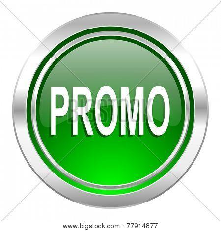 promo icon, green button