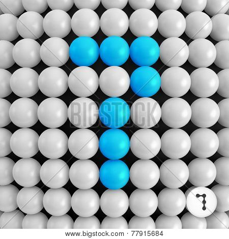 Number seven. Abstract mathematics background. 3d vector illustration.