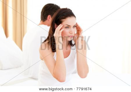Annoyed Couple Having An Argument