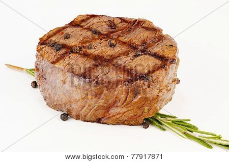 Juicy Grilled Beefsteak With Herb
