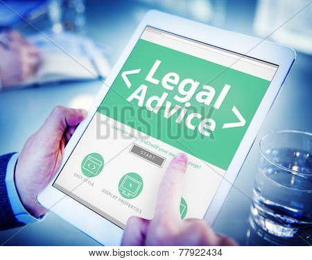 Legal Advice Compliance Consultation Expertise Help Browsing Concept