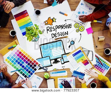 Responsive Design Internet Web Graphic Design Team Concept