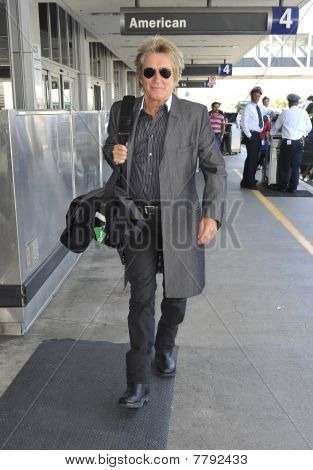 Los Angeles - April 9: Rocker Rod Stewart Is Seen With Wife Penn