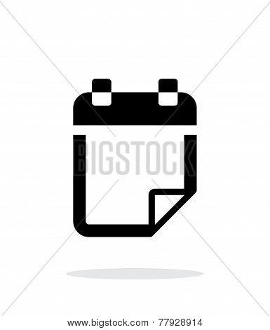 Note flip icon on white background.
