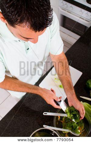 hombre vegetariano