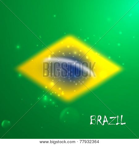 vector blurred background with sparkles in brazil flag concept for design and website background.