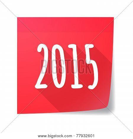 Sticky Note Year 2015 Design
