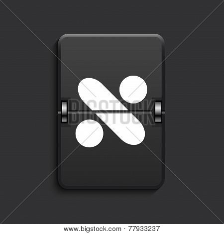 vector modern scoreboard black icon.