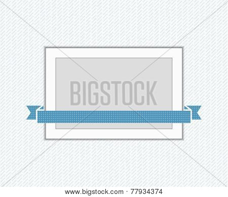 Frame on the wall, flat vector illustration