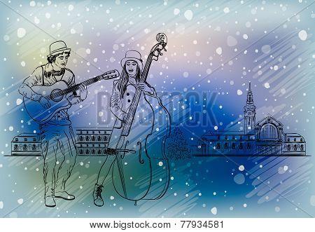 Christmas Street Performers