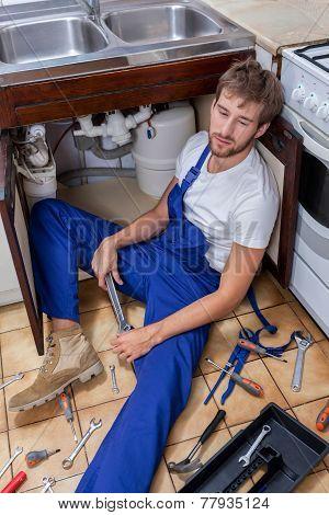 Boring Work Of A Repairman