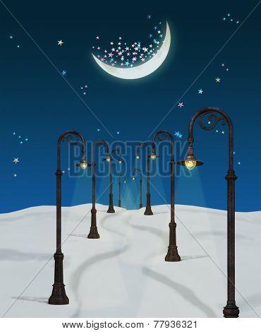 Fantasy  Winter Night
