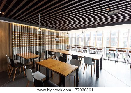 modern coffee bar interior
