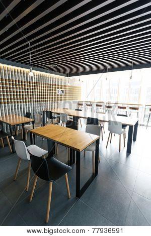 modern coffee bar interior