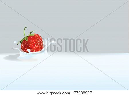 Strawberry in liquid