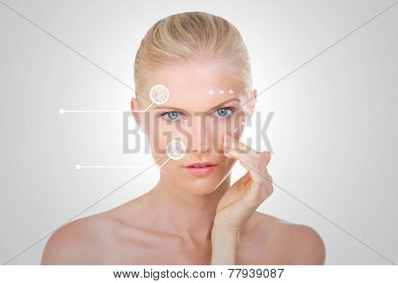 Blond Woman Verify The Effects Of Her Salve