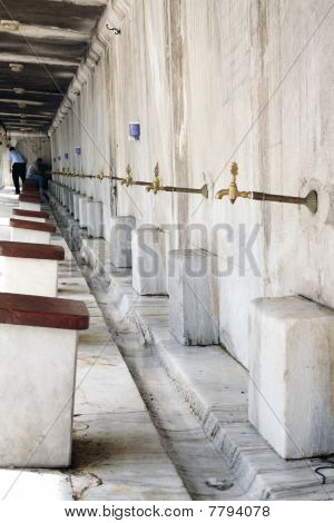 Ablutions In Blue Mosque