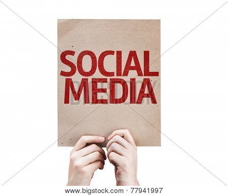 Social Media card isolated on white background