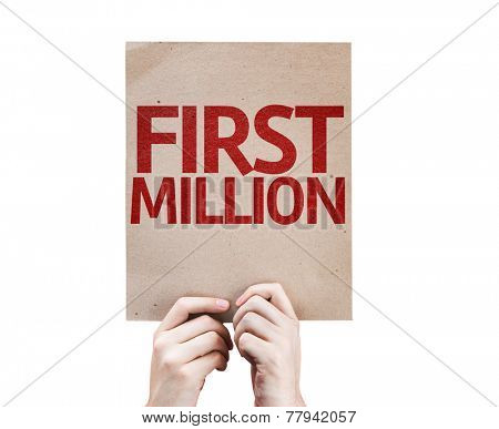 First Million card isolated on white background