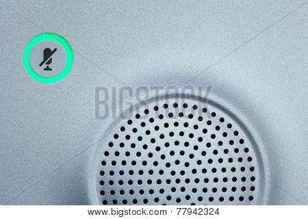 Microphone Icon Switch, And Loudspeaker Background For Conferencing Room