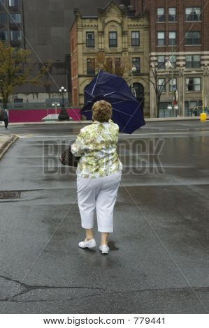 blown out umbrella