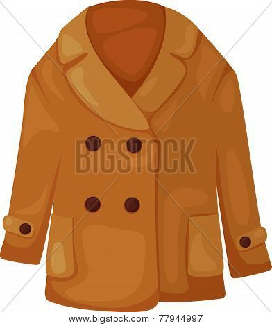 Illustration of coat vector
