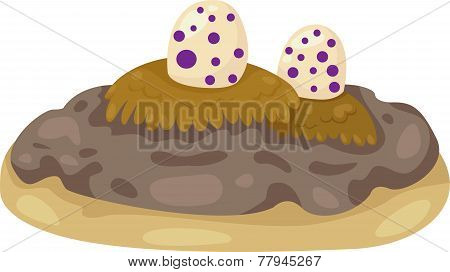 illustration of Eggs Dino