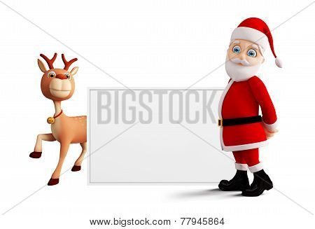Santa Is Presenting Merry Christmas