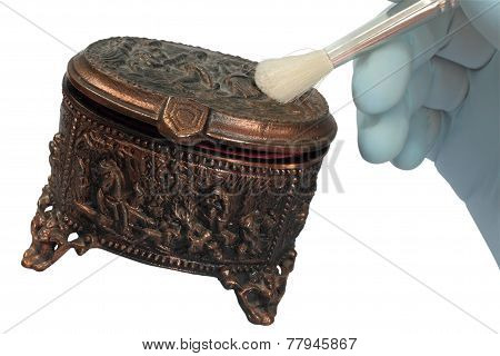 Copper Old Jewelry Box