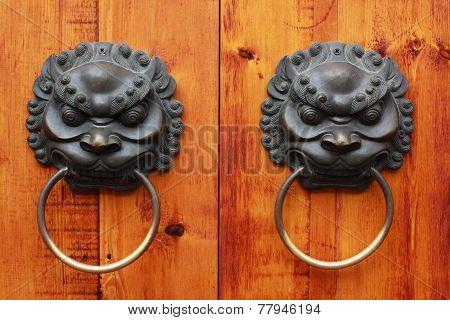 Lion Head Chinese Door Knob, Chengdu, China