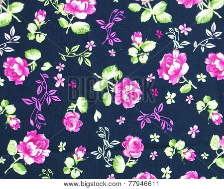 Fabric Roses Wallpaper