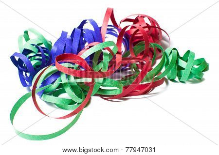 Serpentine Colors On White Background
