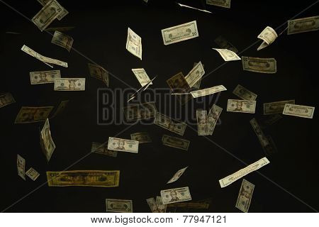 Us Dollar Bills Falling