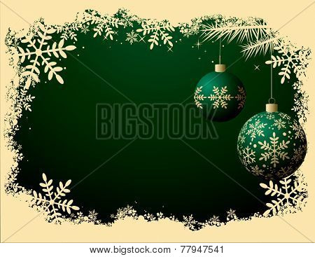 Christmas Background - Retro color style