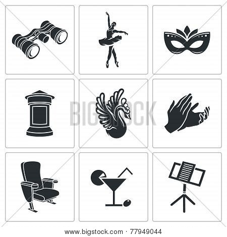 Ballet Vector Icons Set