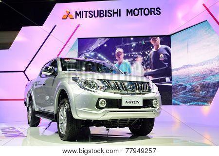 Nonthaburi - December 1: Mitsubishi New Triton 2014 Car Display At Thailand International Motor Expo