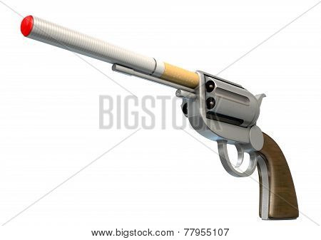Pistol Smoking Concept
