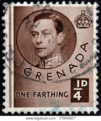GRENADA - CIRCA 1940: A stamp printed in Grenada shows King George VI circa 1937