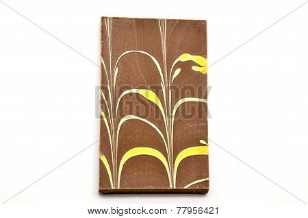 delicious chocolate bar on a white background