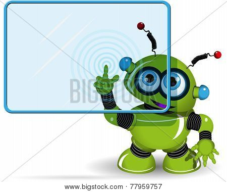 Green Robot And Screen